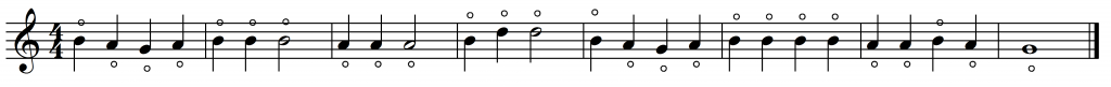 mary harmonic simple notation