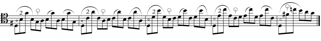 bach thumb VI prelude as is
