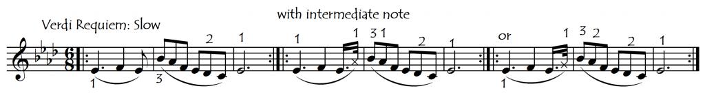 int notes verdi