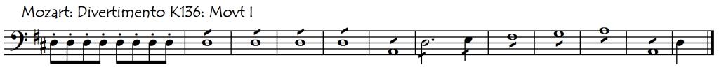rhythm section mozart