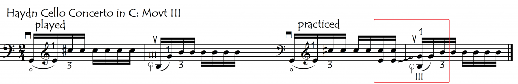 to 3rd string with dblestop