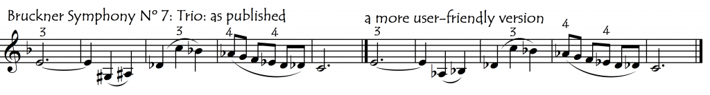 Bruckner 7th mix sharps and flats