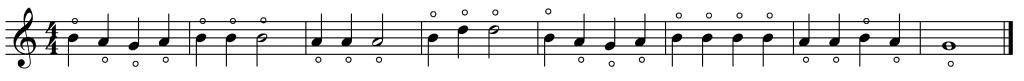 mary harmonic simple notation
