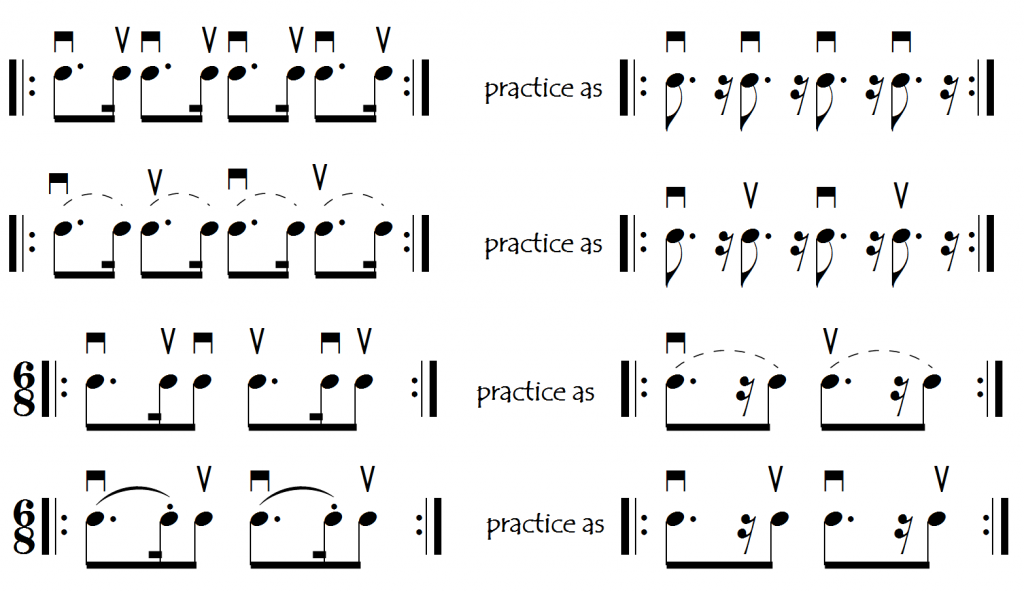 practice without little note