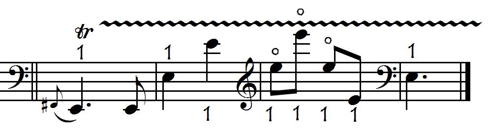 trill on harmonic