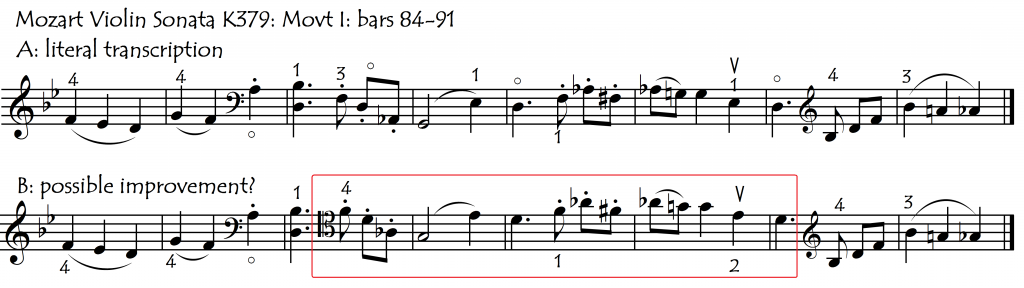 up octave from violin