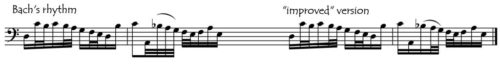 allemande III rhythm change