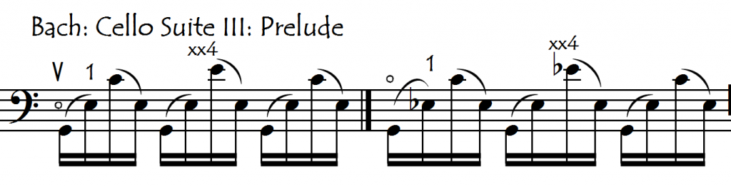 bach prelude III dble extns