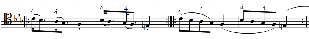 artic or gliss same notes