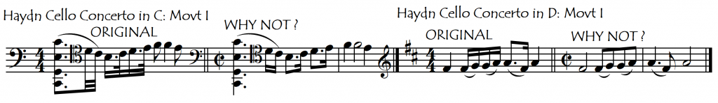 rhythm note values Haydn concs