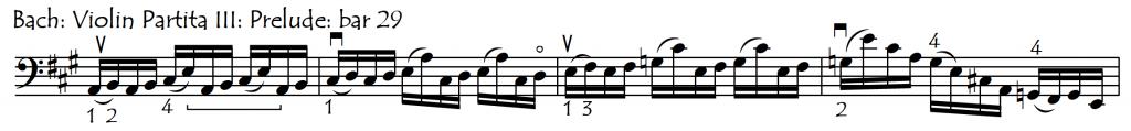 add slurs Bach Prel E maj