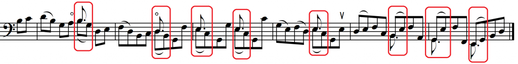 hold first note Bach Bourree