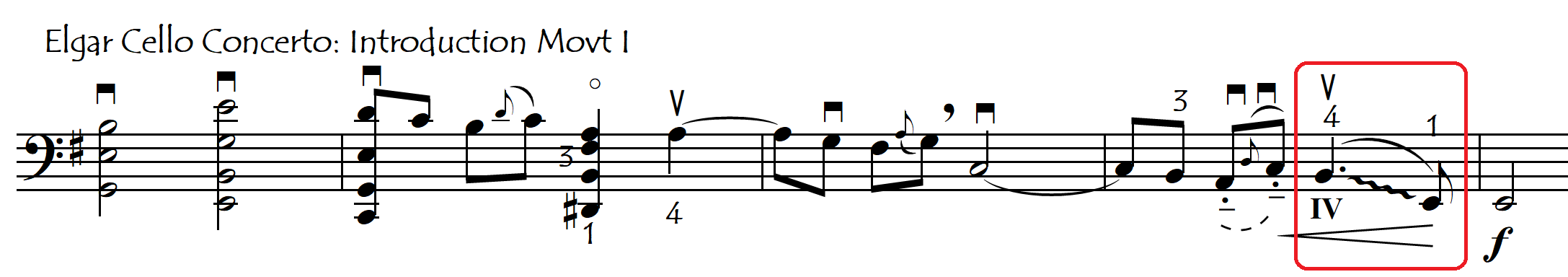 elgar downwards gliss assisted