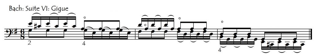 tips Bach 6 gigue