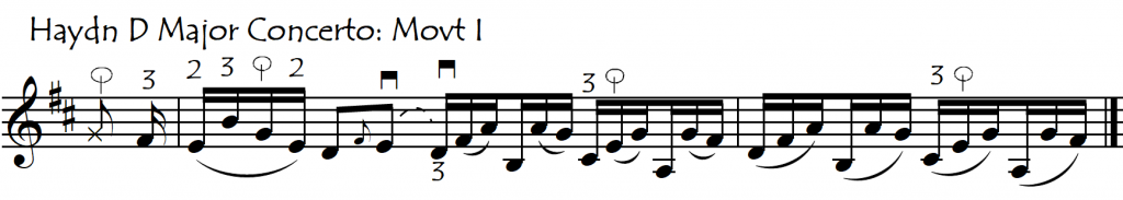 use thumb in int Haydn D
