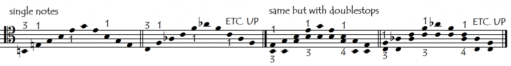 singles or doubles shifting exmple