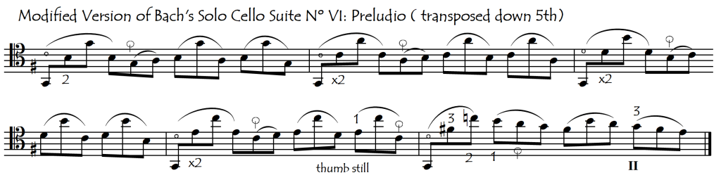 bach VI prelude passage