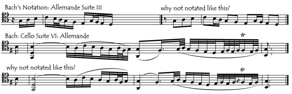 bach over small values allemandes 3 and 6 new