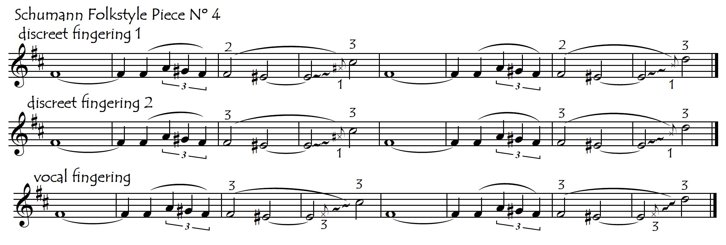 discreet or vocal Schumann