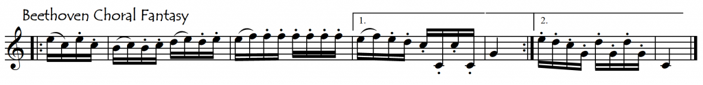 beet choral fantasy clef