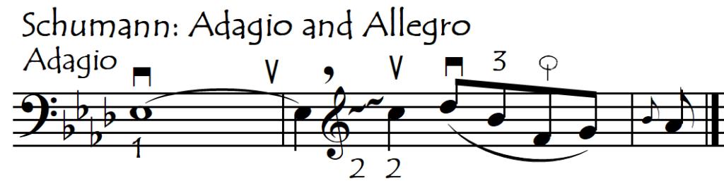 gliss as finder Schumann adagio