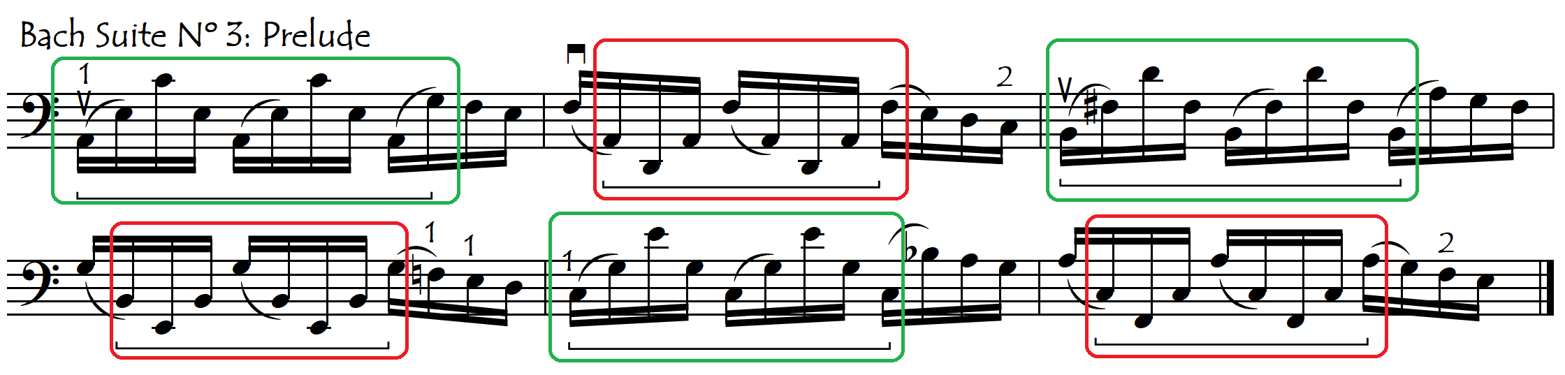 1st finger capo fifths both directions Bach PIII PAINT