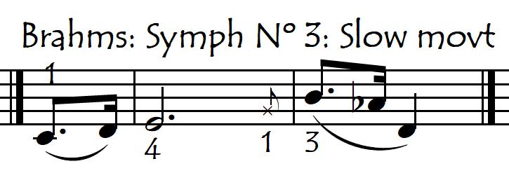 brahms symph 1 surprise int note