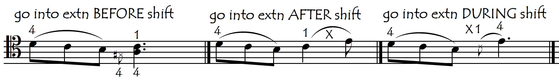shift non to extd 3 ways new