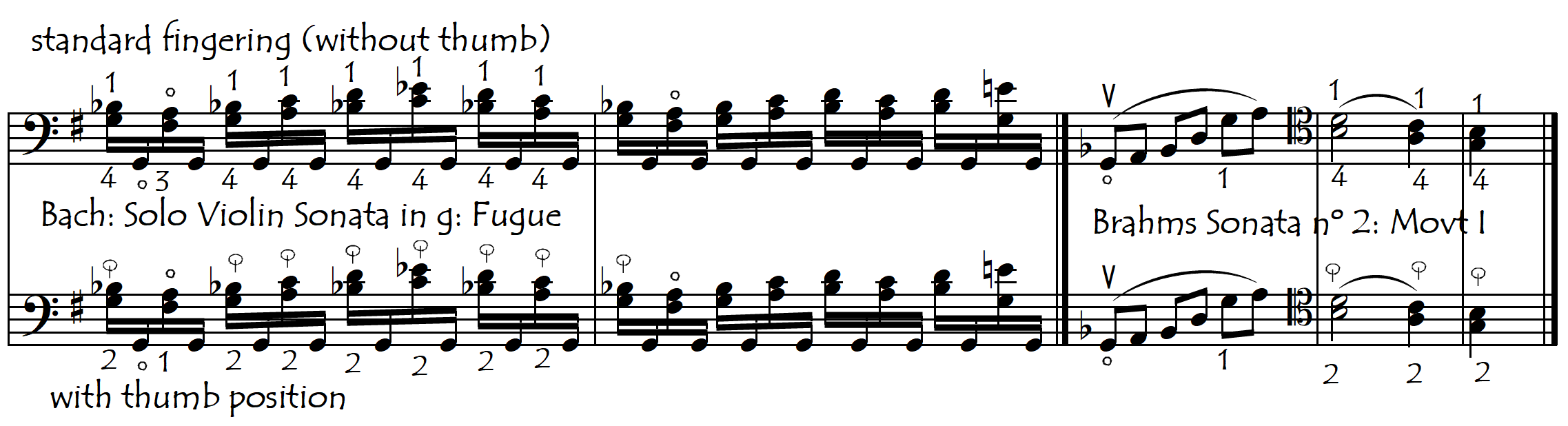 bach and brahms thumb or not