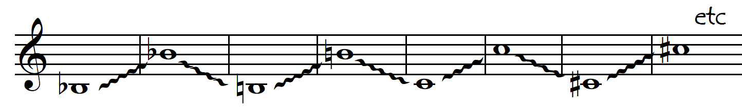 point of contact 1 octave glissandi