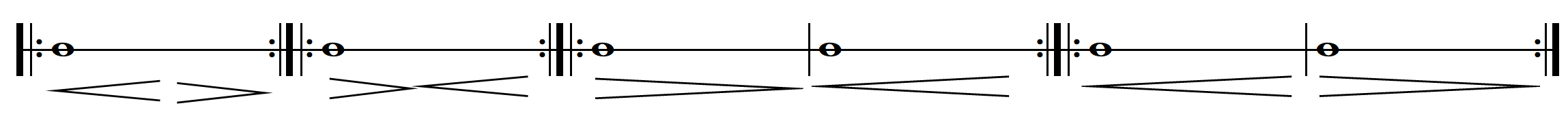 point of contact long bows one note ebb and surge no bowings