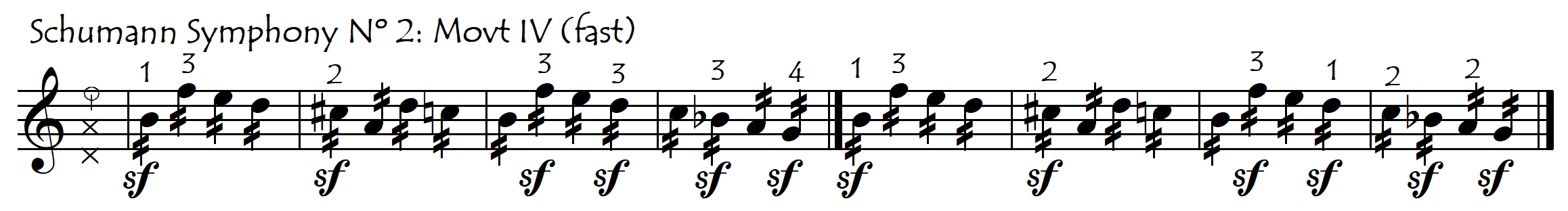 shift on accent or not schumann symph